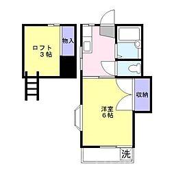 ウッディホーム[2階]の間取り