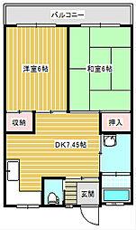 新住之江マンション[502号室]の間取り