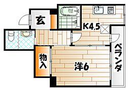 第一興産若戸ビル[3階]の間取り