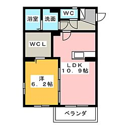 メッシスマヨコ[1階]の間取り