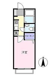 レトアサカワ[102号室]の間取り