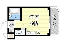 インターナショナル高殿[9階]の間取り