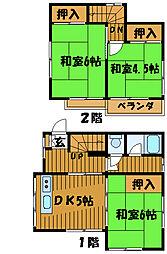 [一戸建] 東京都国分寺市東恋ケ窪 の賃貸【/】の間取り