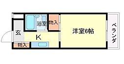 リバーサイド千里[3階]の間取り