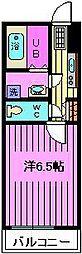 埼玉県さいたま市南区太田窪5丁目の賃貸アパートの間取り