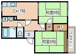 兵庫県神戸市長田区丸山町1丁目の賃貸アパートの間取り