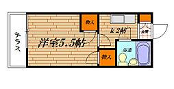 根本アパート[102号室]の間取り