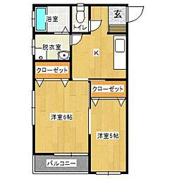 プレンティタカヤマ[2階]の間取り