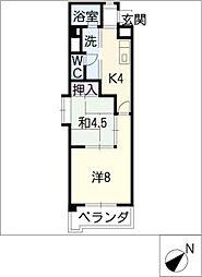 新日豊明マンション[6階]の間取り