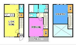 [テラスハウス] 埼玉県所沢市泉町 の賃貸【/】の間取り
