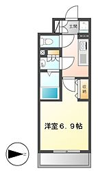 NS ZEAL大曽根[13階]の間取り