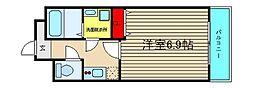 グランパシフィック本田[506号室]の間取り