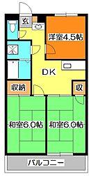クレスト新秋津[2階]の間取り