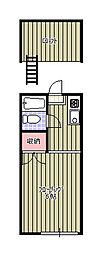 新検見川ハイリビング弐番館[205号室]の間取り