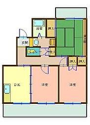ヴェルディハイツ[3階]の間取り