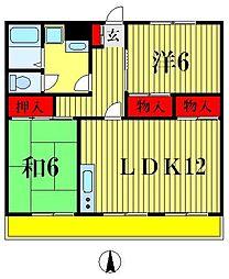 北松戸ハイツ[3階]の間取り