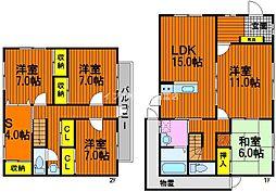 [一戸建] 岡山県岡山市中区海吉 の賃貸【/】の間取り