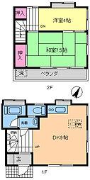 [テラスハウス] 千葉県市川市大洲4丁目 の賃貸【/】の間取り