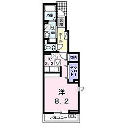 徳島県板野郡藍住町奥野字乾の賃貸アパートの間取り