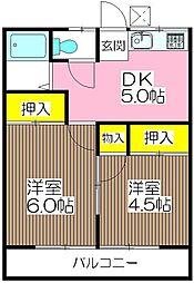 コーポ稲垣[2階]の間取り