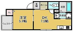 (仮)レディア井尻[102号室]の間取り