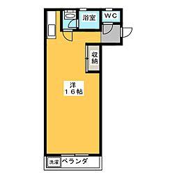 河田ビル[2階]の間取り