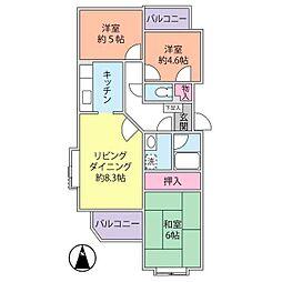 辻堂ガーデンタウン[106号室]の間取り