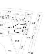 公図 土地面積182平方メートル(55.05坪)
