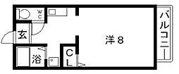 カネマスロイヤルコート[1階]の間取り
