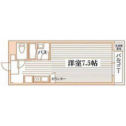 熊本県熊本市中央区渡鹿3丁目の賃貸マンションの間取り