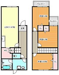 DIA住之江 I[1階]の間取り