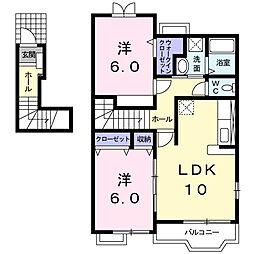 ソレイユ壱番館[2階]の間取り