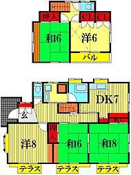 [一戸建] 埼玉県越谷市千間台東2丁目 の賃貸【/】の間取り