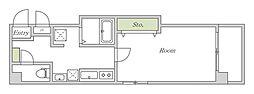 Osaka Metro谷町線 文の里駅 徒歩2分の賃貸マンション 4階1Kの間取り