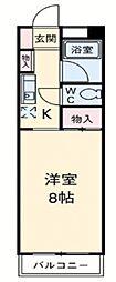 神奈川県横須賀市上町2丁目の賃貸マンションの間取り