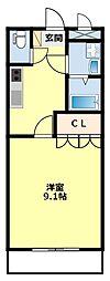愛知県豊田市本田町池下の賃貸アパートの間取り