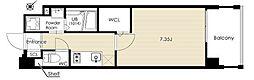 ルイズレガーロ 4階1Kの間取り