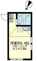 ユナイト川崎 シープレーリー[2階]の間取り