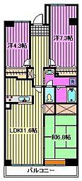 コーポレート浦和中島1号棟[1階]の間取り