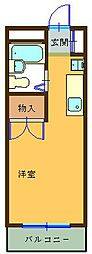 瀬川ビル[207号室]の間取り