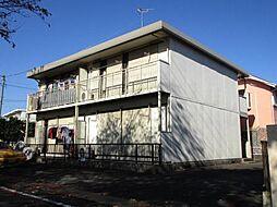 東京都福生市北田園1丁目の賃貸アパートの外観