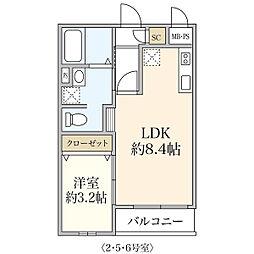 新築T&T Morino[102号室]の間取り