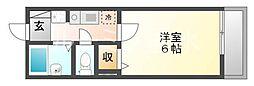 リバービュー垂水[1階]の間取り