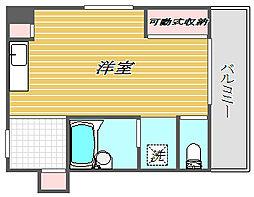 セジュール・カズサ[3階]の間取り