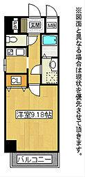 福岡県北九州市小倉北区片野の賃貸マンションの間取り