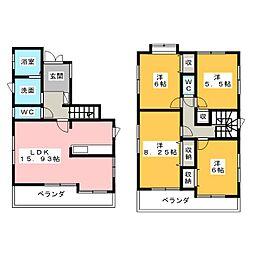 [一戸建] 愛知県名古屋市名東区神丘町3丁目 の賃貸【/】の間取り