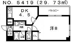 メディオ国分町[4階]の間取り