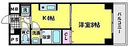 さんさん千林 3階1Kの間取り