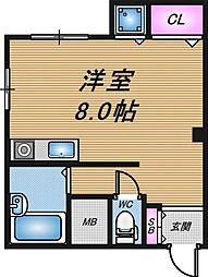 大阪府大阪市西成区花園南2丁目の賃貸マンションの間取り