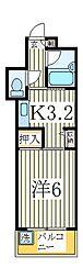 セザール柏[4階]の間取り